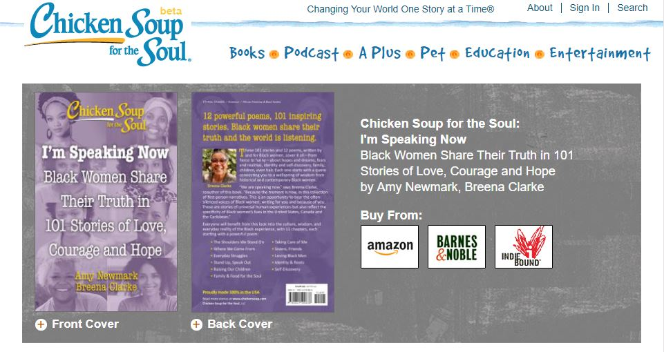 """Chicken Soup for the Soul: I'm Speaking Now, Black Women Share Their Truth in 101 Stories of Love, Courage and Hope - """"Breakfast in Northport"""" by Zorina Exie Frey"""